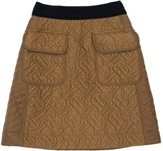 Burberry Logo Quilted Mini Skirt