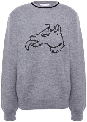 Bella Freud Metallic Jacquard-knit Wool-blend Sweater