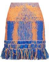 Camilla Raffia Fringed Cotton-Blend Mini Skirt