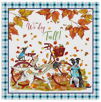 "Jean Plout 'We Dig Fall Border' Canvas Art - 35"" x 35"""