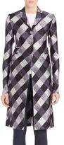 Aquilano Rimondi Silk-Blend Check Coat