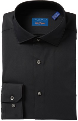 Perry Ellis Tech Slim Fit Dress Shirt