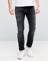 Nudie Jeans Long John Skinny Jeans Black Coyote