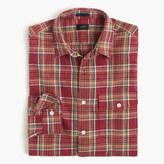 J.Crew Slim heathered slub cotton shirt in red plaid