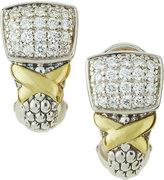 Lagos Diamond Lux Pave J-Hoop Earrings