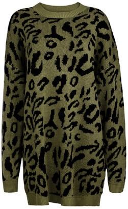 Goodnight Macaroon 'Sophia' Leopard Print Long Sweater (4 colors)