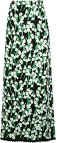 Carolina Herrera Floral Jacquard Long Skirt