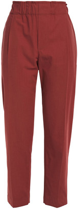 Brunello Cucinelli Cropped Cotton-broadcloth Tapered Pants