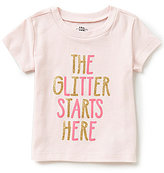 Baby Starters Baby Girls 12-24 Months The Glitter Starts Here Short-Sleeve Tee