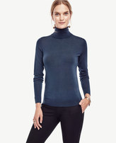 Ann Taylor Petite Extrafine Merino Wool Turtleneck Sweater
