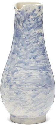 1882 X Faye Toogood - Indigo Storm Earthenware Jug - Blue White