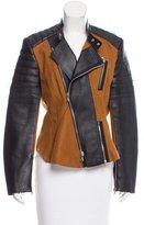 3.1 Phillip Lim Leather-Paneled Wool Jacket