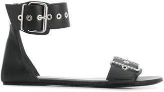Balenciaga Buckled Flat Sandals