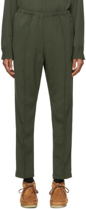 Needles Khaki Doeskin Warm-Up Track Pants