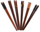 Joykit New 6 Pairs Handmade Japanese style Natural Chestnut Wood Chopsticks Set Value Gift