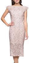 Jessica Simpson Scalloped Lace Sheath Dress