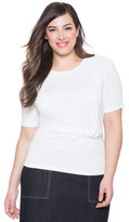 ELOQUII Plus Size Knotted Waist Tee