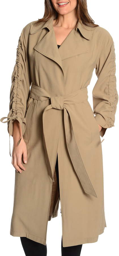 Rachel Roy Cinched Sleeve Trench Coat