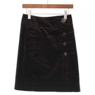 Gucci Brown Cotton Skirt for Women Vintage