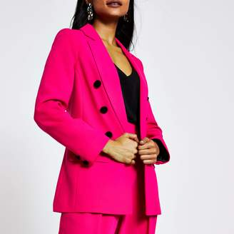 River Island Womens Petite Pink open front blazer
