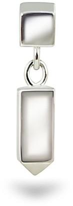 Minimalist 18K White Gold Piercing Earring Stud
