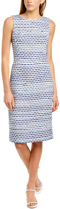 Oscar de la Renta Tweed Silk-Lined Sheath Dress