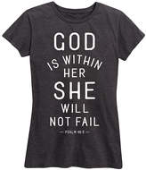 Instant Message Women's Women's Tee Shirts HEATHER - Heather Charcoal 'She Will Not Fail' Tee - Women