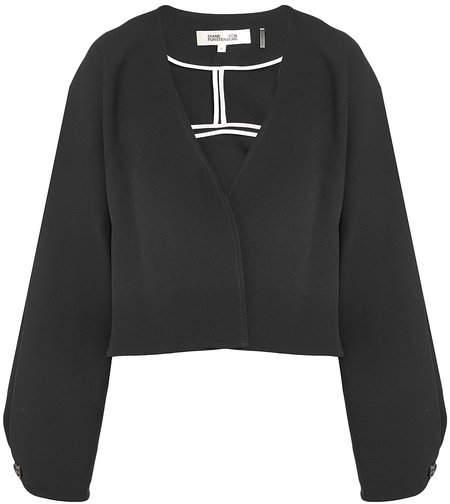 Diane von Furstenberg Cropped Crepe Jacket