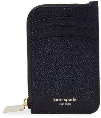 Kate Spade Margaux Zip-Around Leather Card Holder