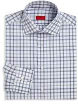 Isaia Plaid Regular-Fit Dress Shirt