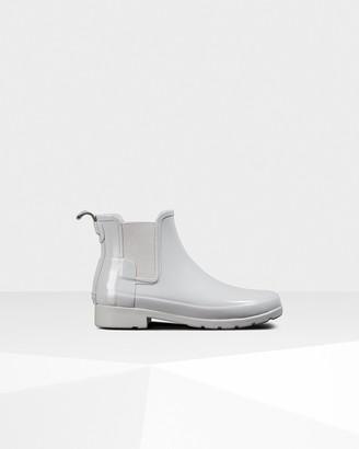 Hunter Women's Refined Gloss Slim Fit Chelsea Boots