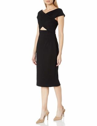 Elliatt Women's Apparel Women's Felicity Cap Sleeve Cut Out MIDI Sheath Dress