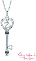 Zales Open Hearts by Jane SeymourTM Enhanced Black and White Diamond Accent Top Key Pendant in Sterling Silver