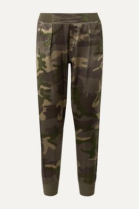 ATM Anthony Thomas Melillo Camouflage-print Silk-satin Track Pants - Army green