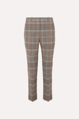 Givenchy Checked Wool-blend Straight-leg Pants - Blue
