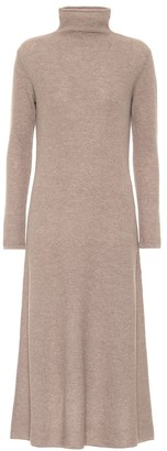 Agnona Cashmere turtleneck midi dress