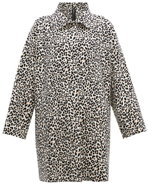 Norma Kamali Leopard-print Single-breasted Coat - Leopard