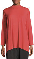 Eileen Fisher Mock-Neck Jersey Tunic, Plus Size