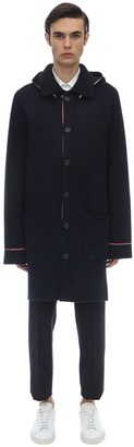 Thom Browne Hooded Wool & Cashmere Knit Duffle Coat