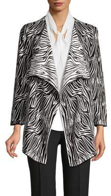 Kasper Printed Cotton-Blend Blazer