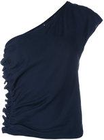 Aspesi one shoulder top - women - Silk - 42