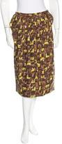 Marni Abstract Print Knee-Length Skirt