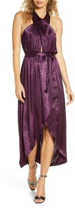 Ali & Jay Star Dancing Satin High/Low Hem Dress