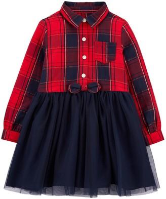 Osh Kosh Baby Girl OshKosh Bgosh Sparkle Plaid & Tulle Dress
