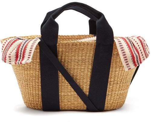 Muun George Woven Straw Basket Bag - Womens - Red Multi