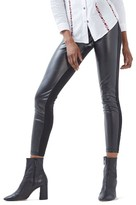 Topshop Women's Faux Leather & Ponte Leggings