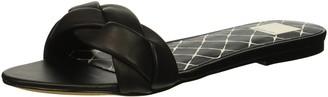 Dolce Vita Women's KIMANA Slide Sandal Black Leather 6 M US