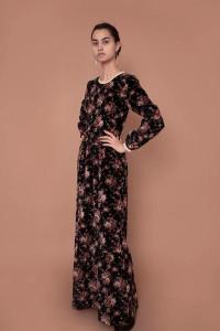 Meadows Jacaranda Black Floral Dress - 10