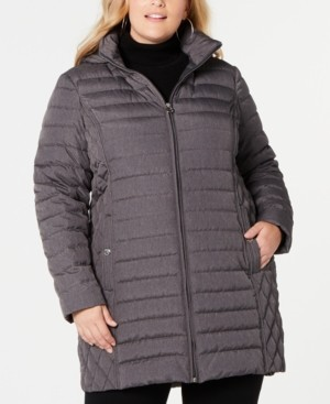 Michael Kors Michael Plus Size Hooded Packable Puffer Coat, Created for Macy's