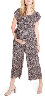 Ingrid & Isabel Flutter Sleeve Maternity/Nursing Jumpsuit
